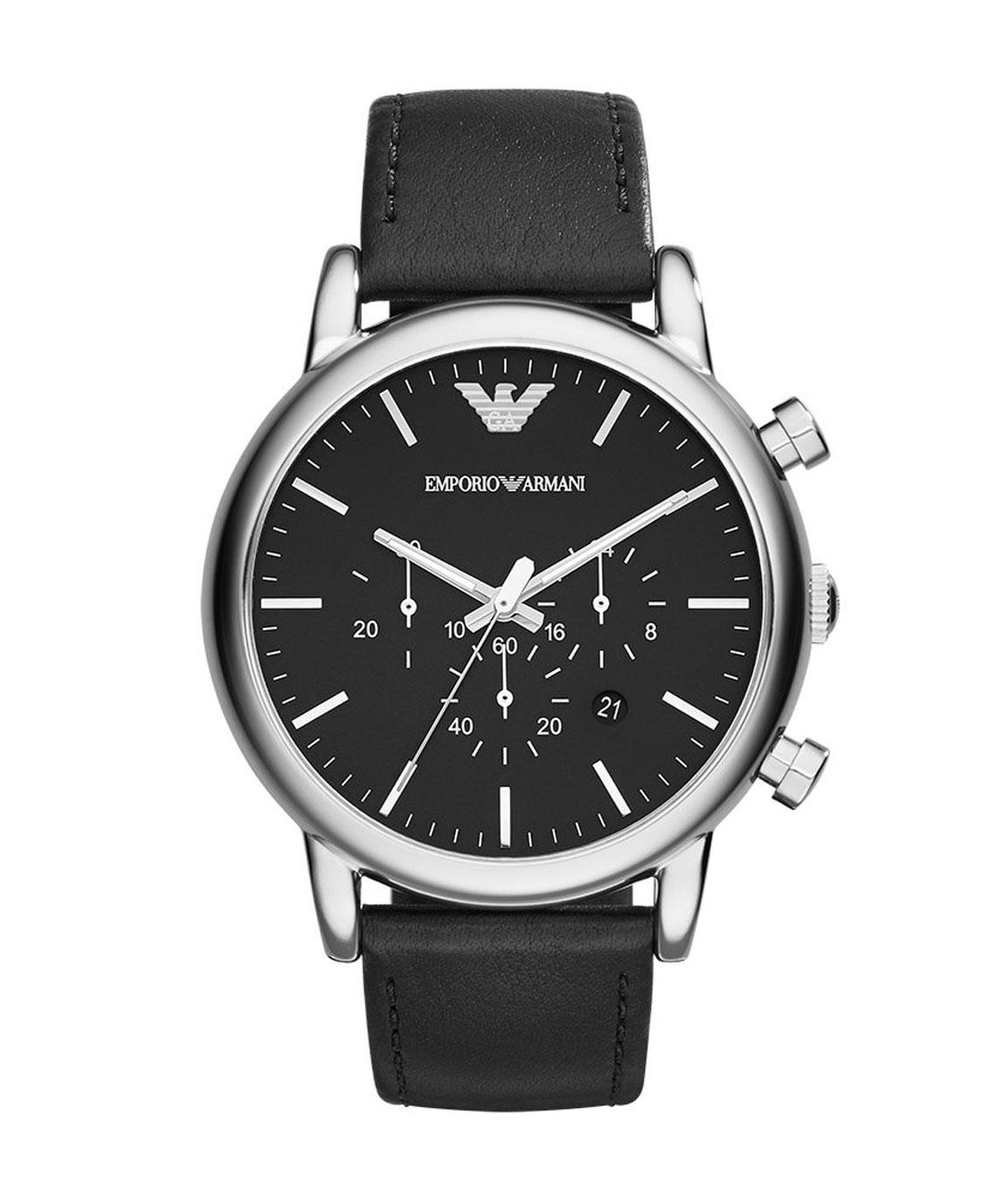 Emporio Armani Chronograph Black Dial Men`s Watch
