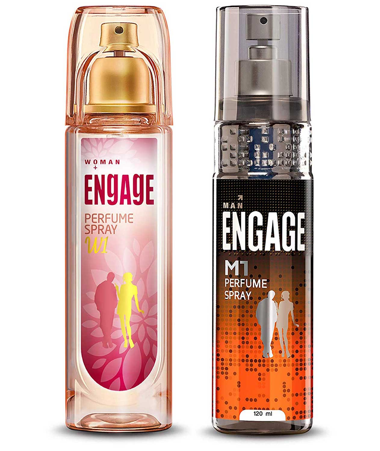 Engage W1 Perfume Spray For Women, 120ml and Engage M1 Perfume Spray For Men, 120ml