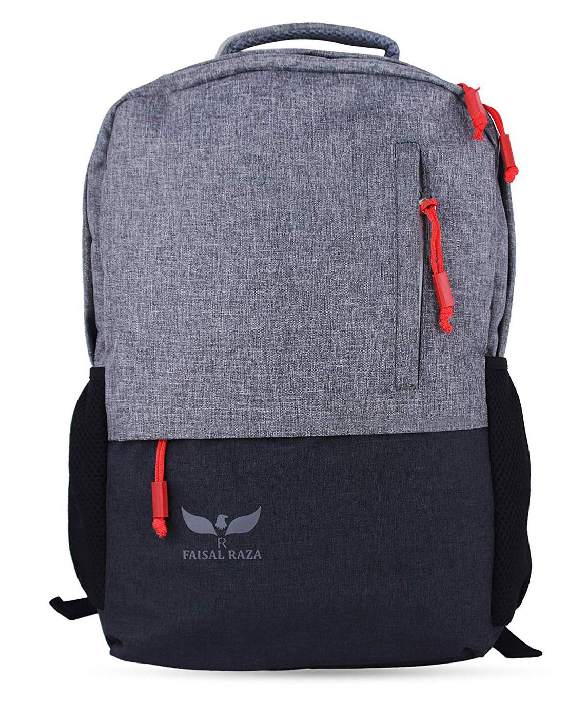 F/Star30 Liters Casual Bagpack/School Bag/Laptop Backpack(Grey::Black)