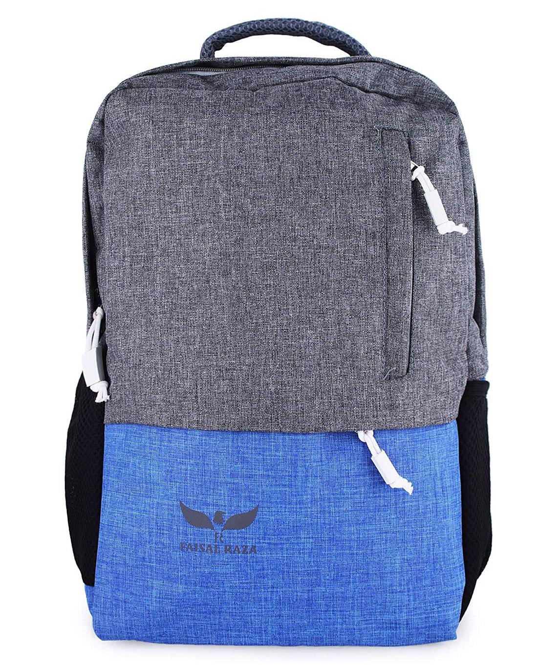 F/Star30 Liters Casual Bagpack/School Bag/Laptop Backpack(Grey::Blue)