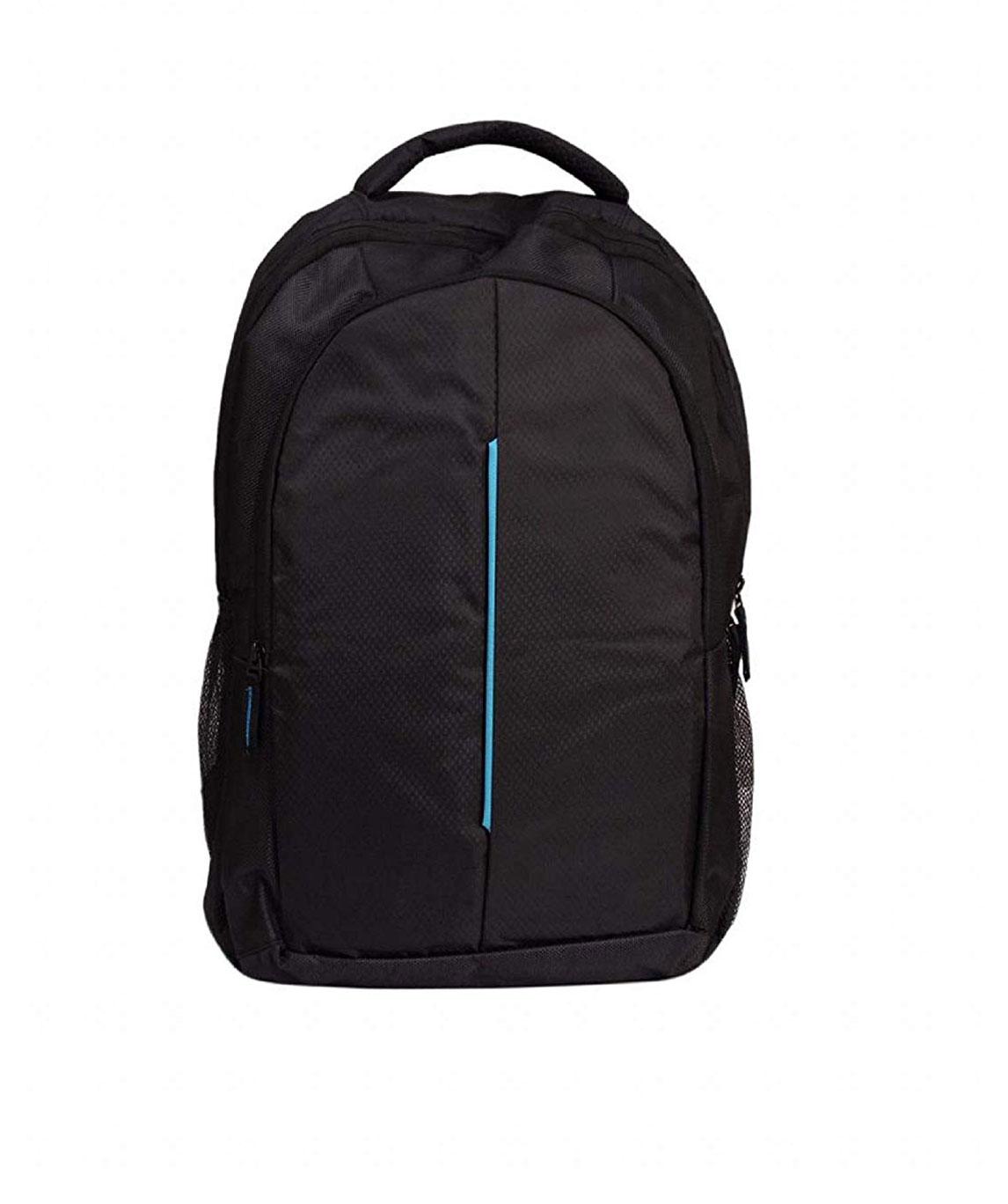 Faisal Raza Expandable Laptop Backpack (Multi) (Black::Blue)