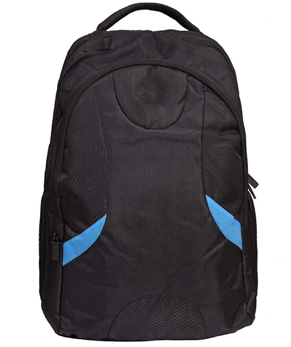 Faisal Raza Expandable Laptop Backpack (Multi) (Black::Blue_2)