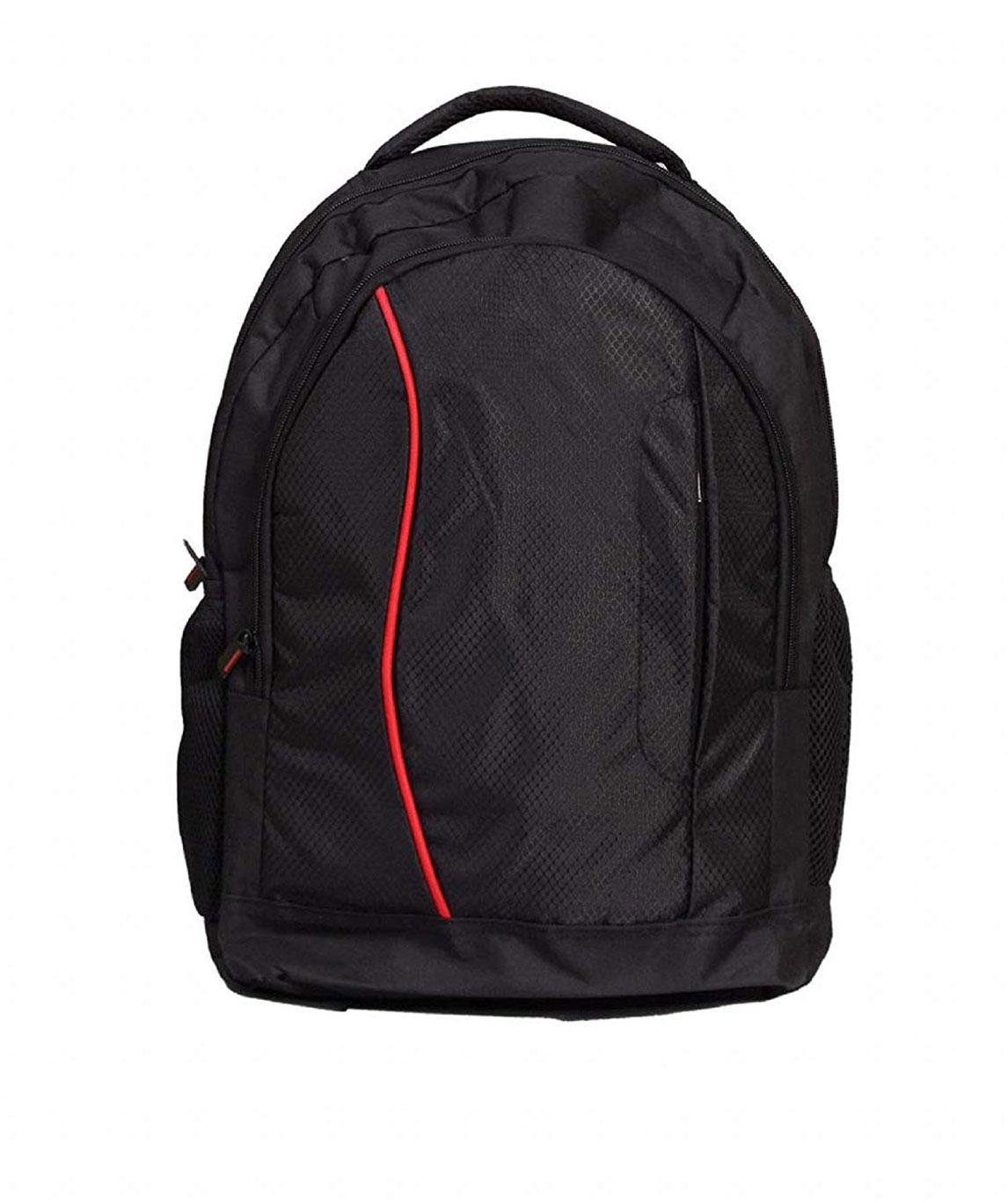 Faisal Raza Expandable Laptop Backpack (Red::Black)