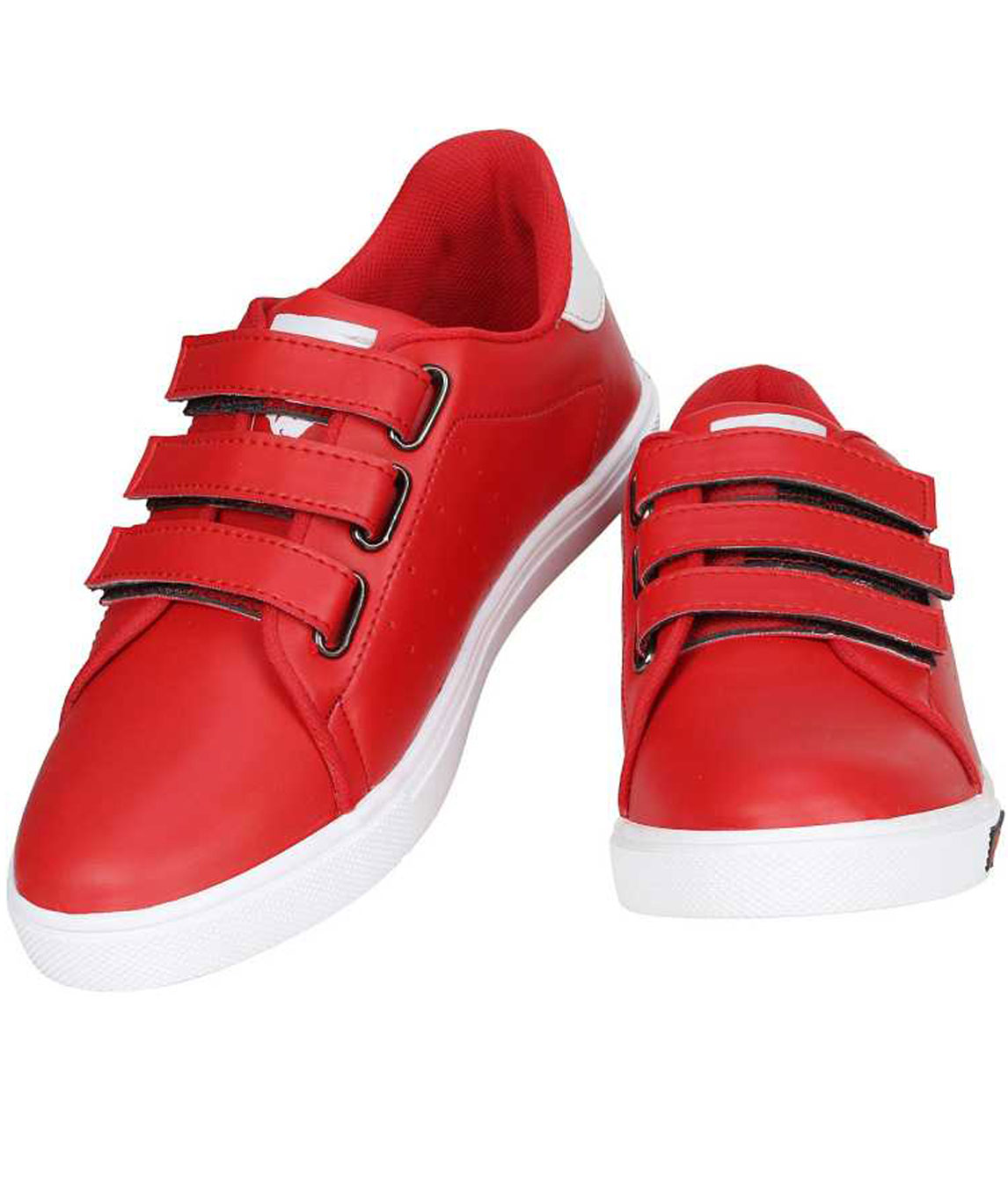 FANSMITH VEL SNEAKERS CANVAS SHOES FOR MEN (RED, WHITE)