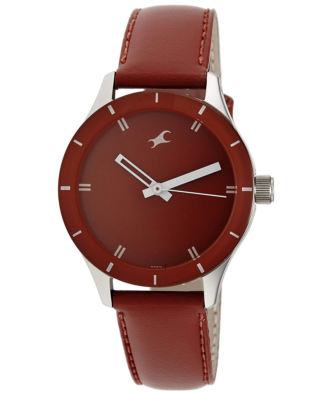 Fastrack Monochrome Analog Red Dial Women`s Watch