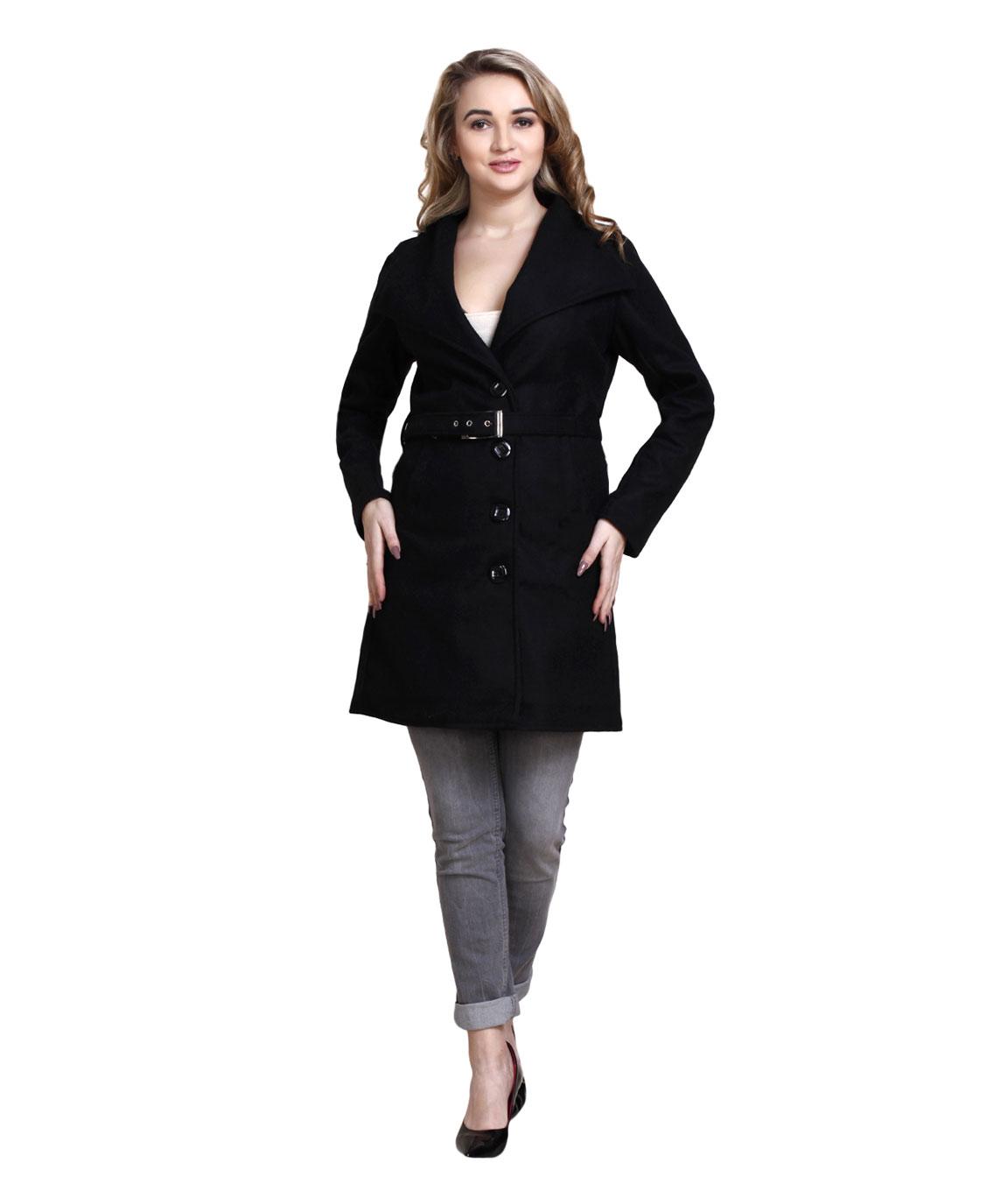 FAZZN Long Woolen Coats(Black)