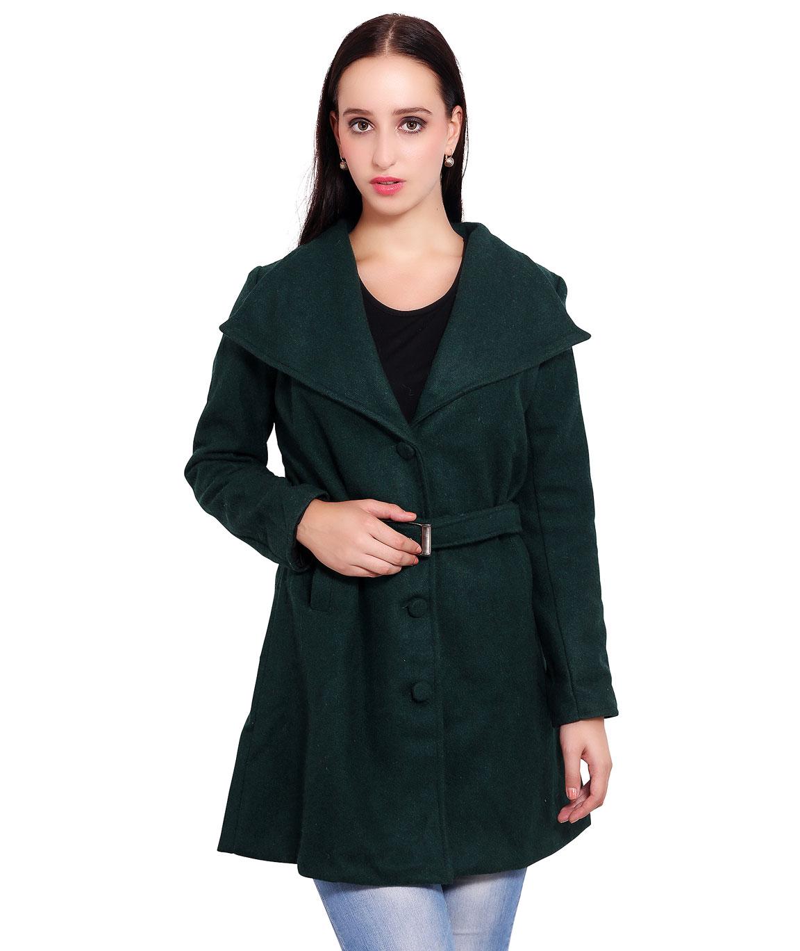 FAZZN Long Woolen Coats(Dark Green)