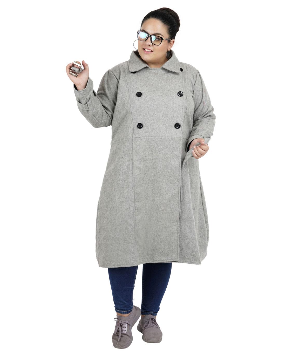 FAZZN Long Woolen Coats (Gray)