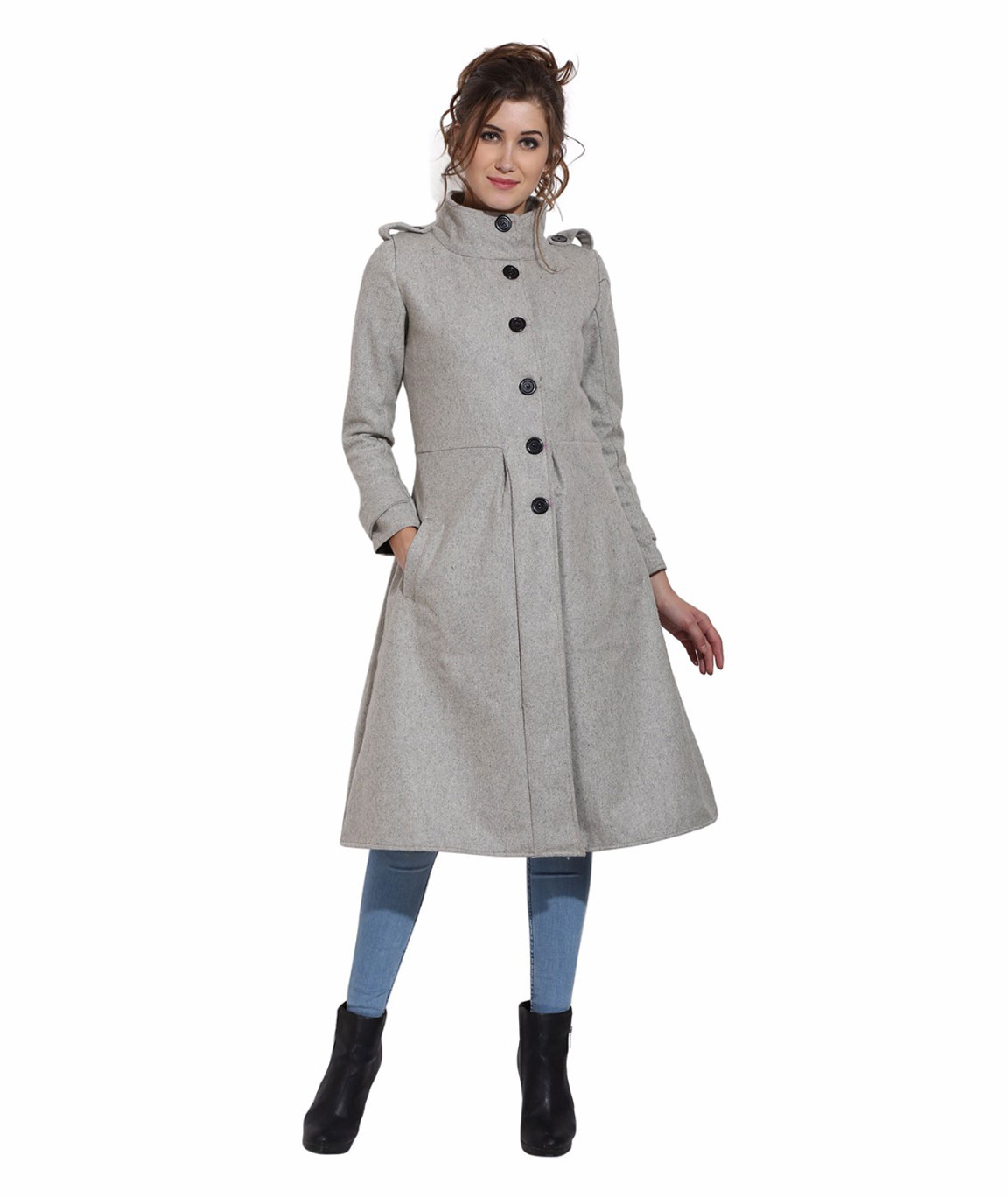 FAZZN Long Woolen Coats(Grey)