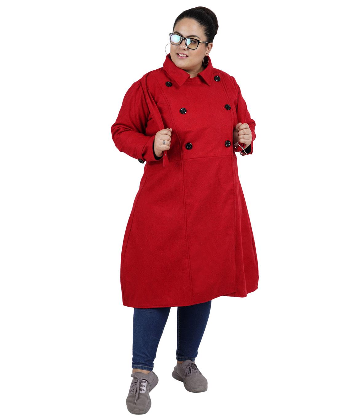 FAZZN Long Woolen Coats(Red)