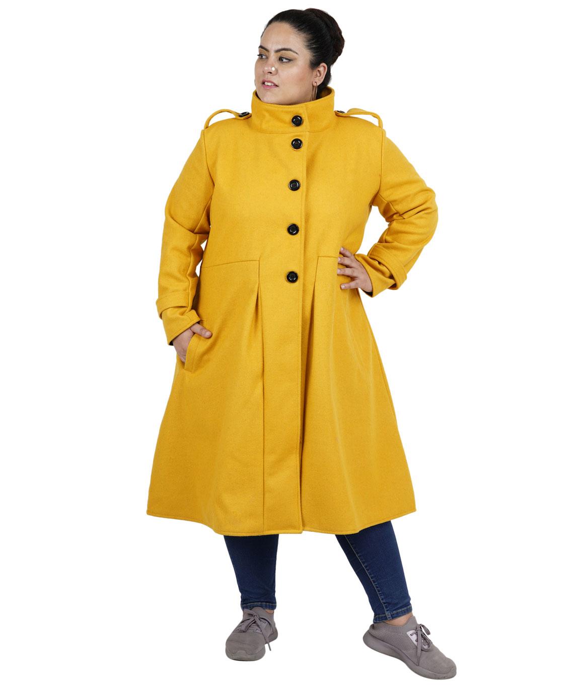 FAZZN Long Woolen Coats (Yellow)