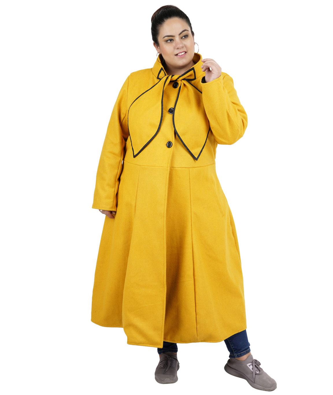 FAZZN Long Woolen Coats(Yellow)