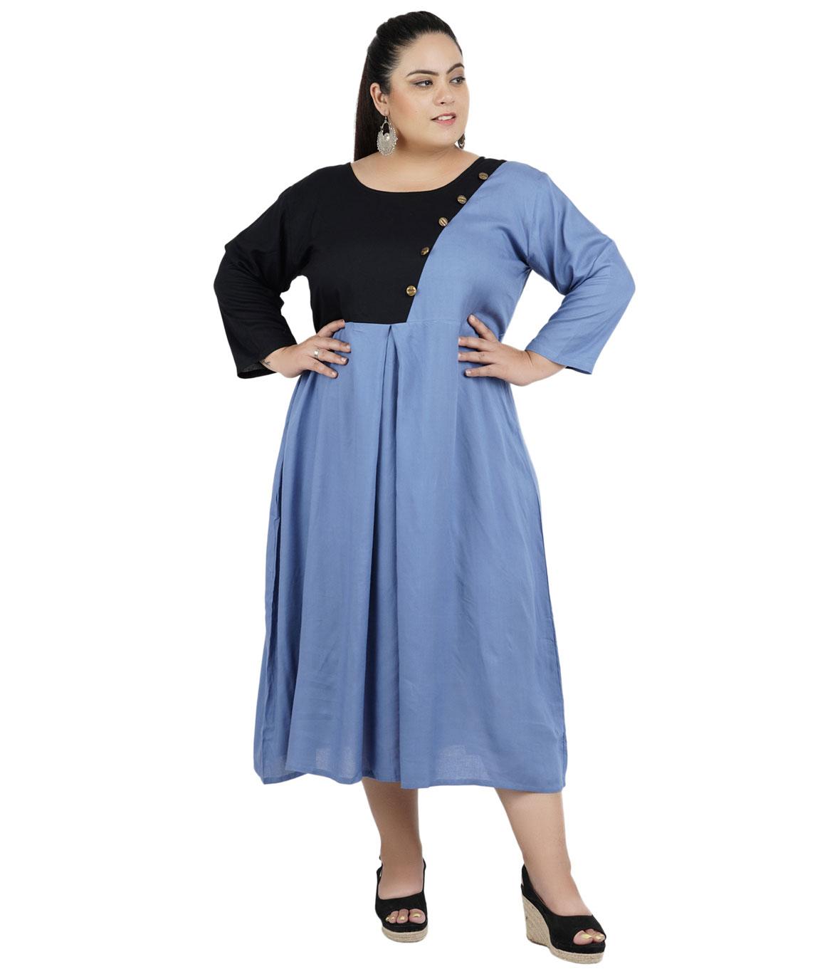 FAZZN Rayon Dresses For Women`s(Multi Color)