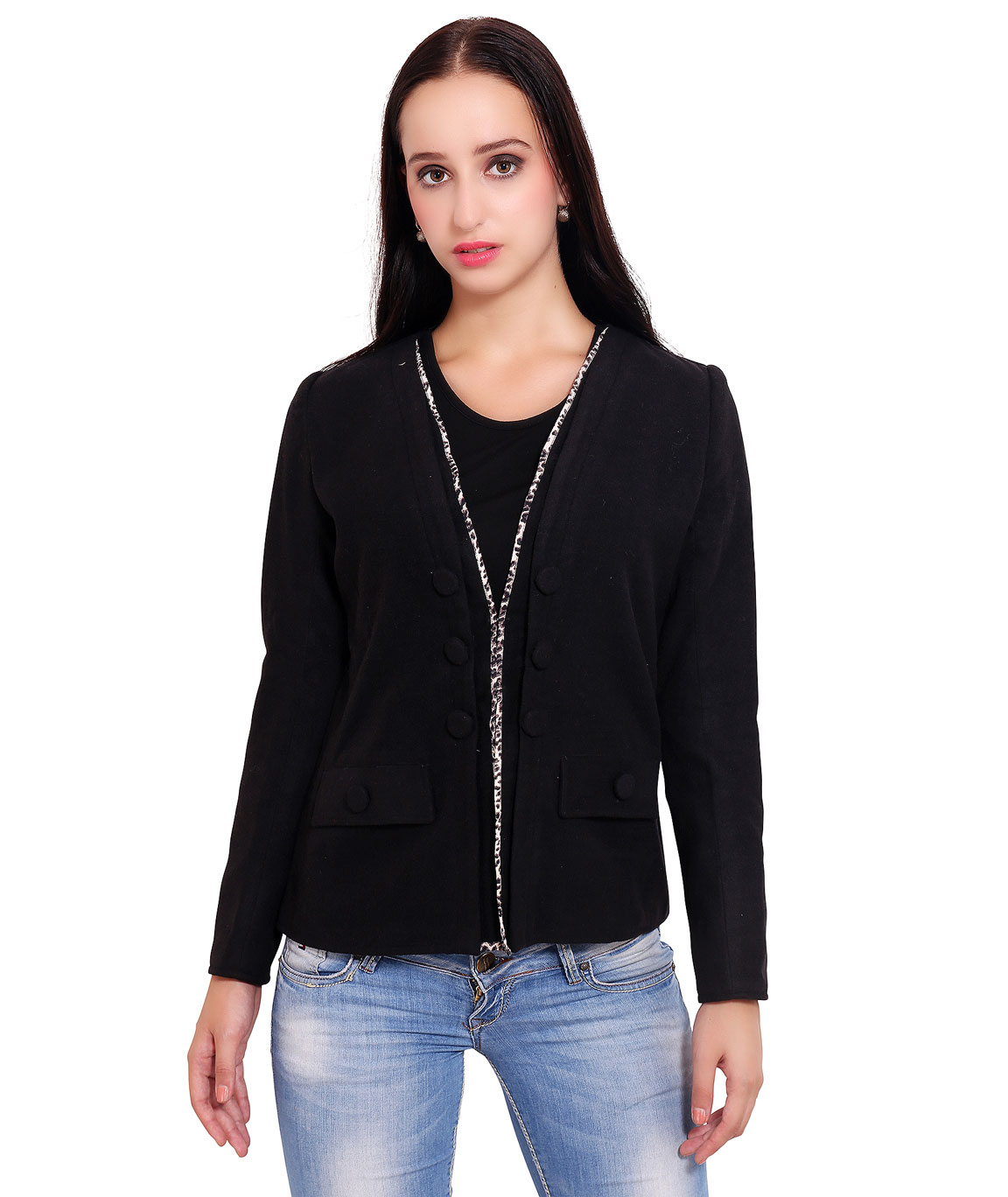 FAZZN Short Woolen Coats(Black)