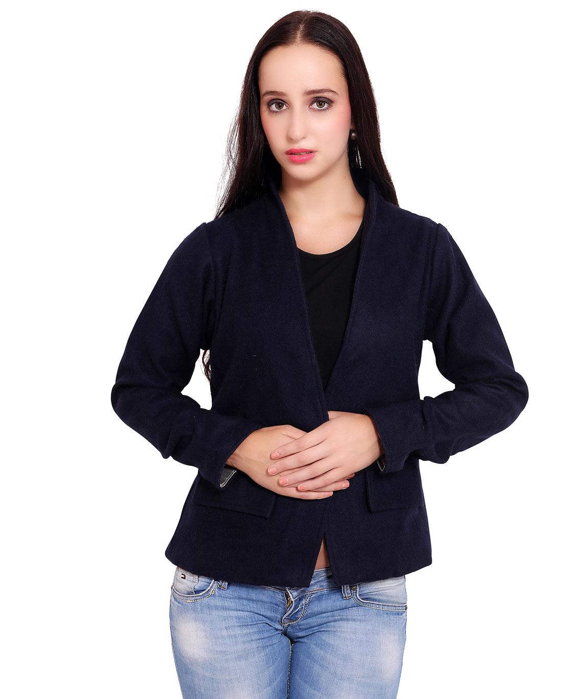 FAZZN Short Woolen Coats(Blue)