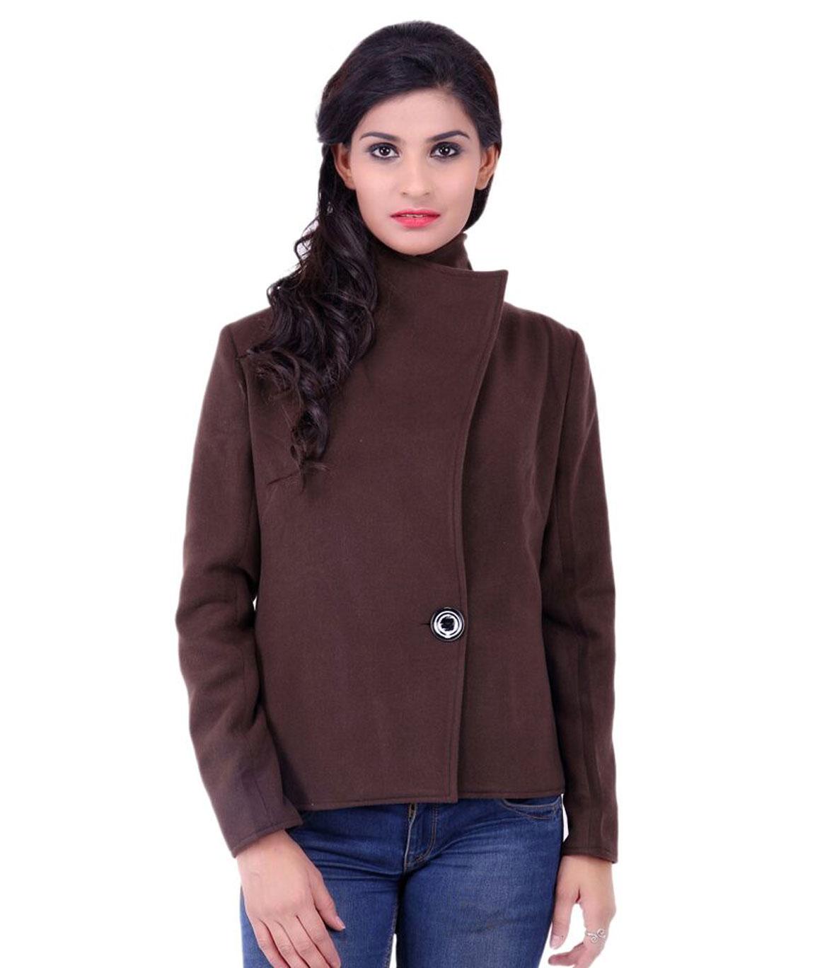 FAZZN Short Woolen Coats(Brown)