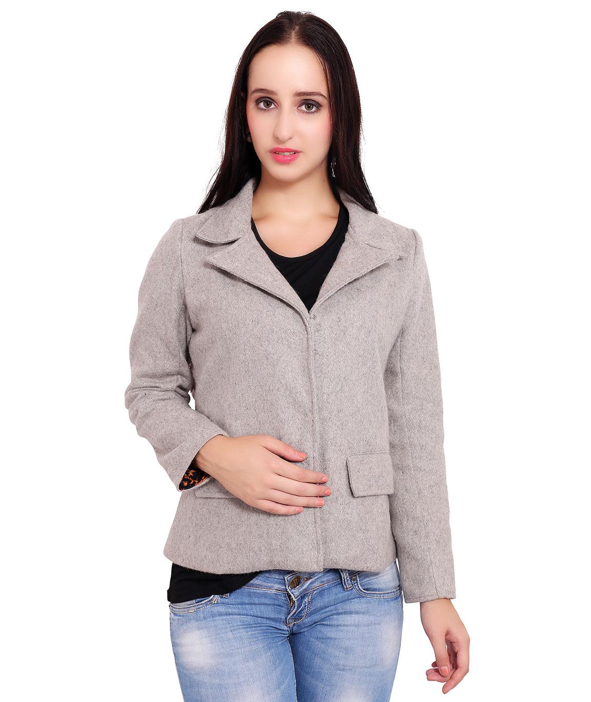 FAZZN Short Woolen Coats(Gray)