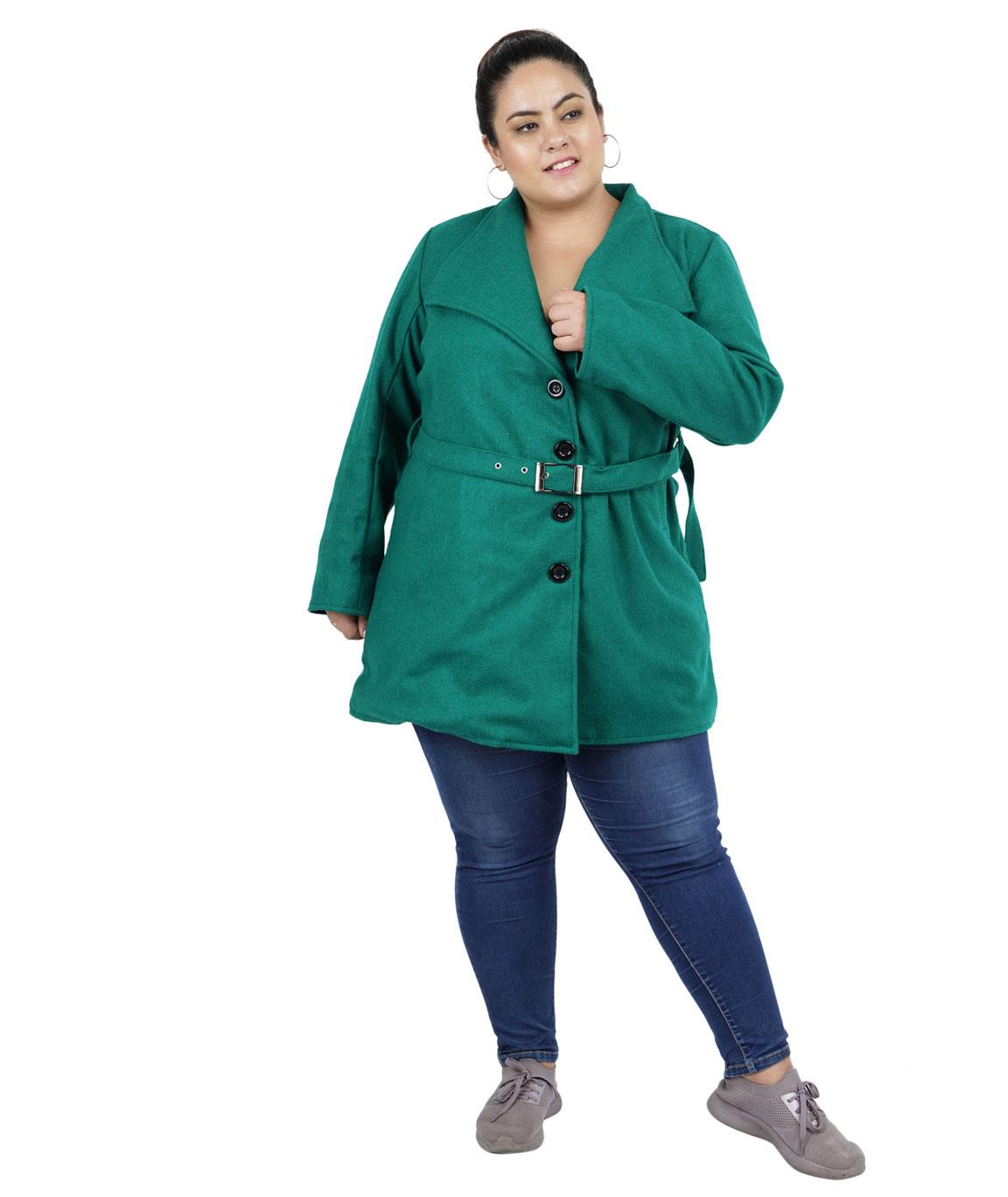 FAZZN Short Woolen Coats(Green)