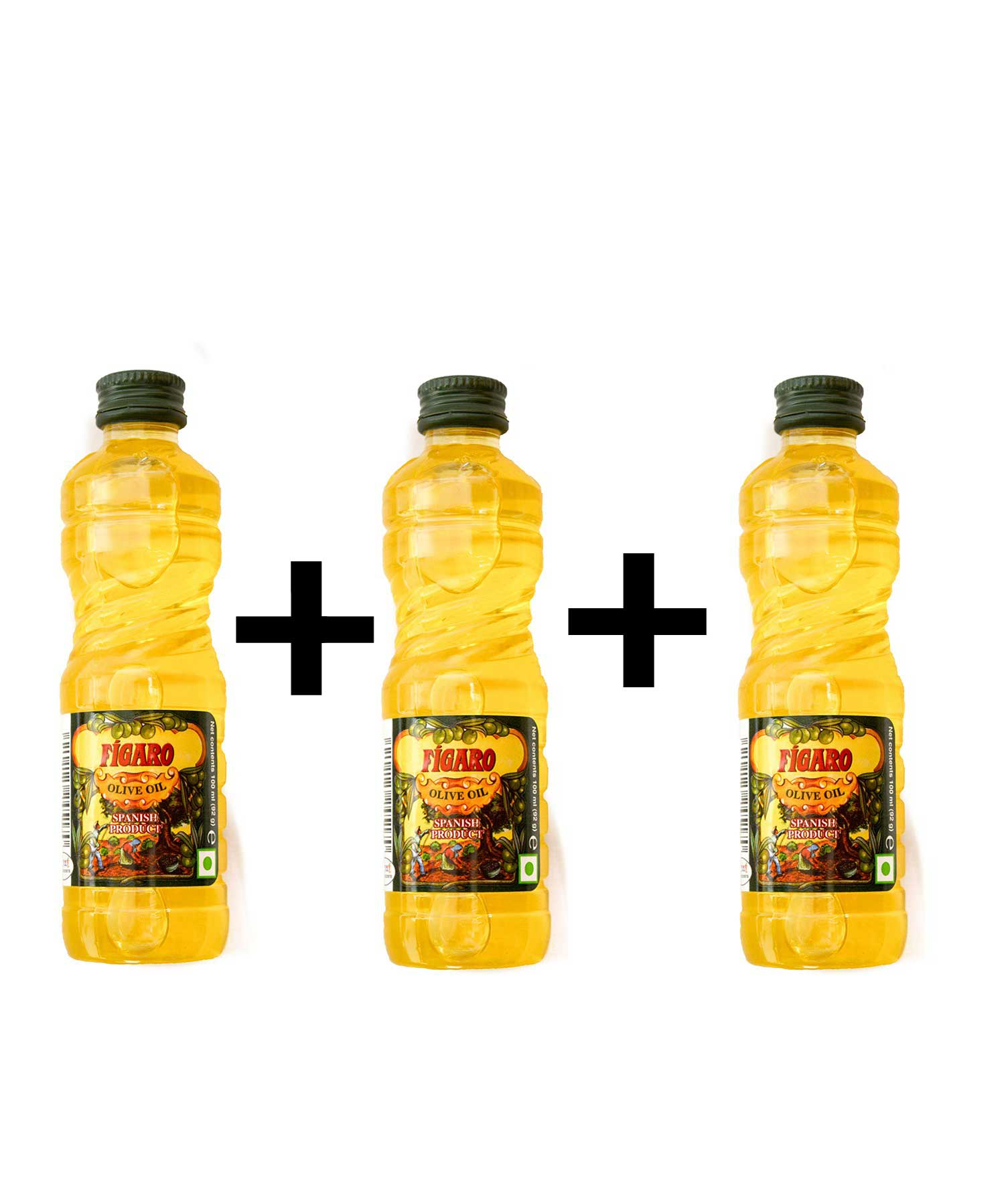 Figaro Olive Oil (Figaro Olive Oil (100 ml)-Pack of 3)-Pack of 3