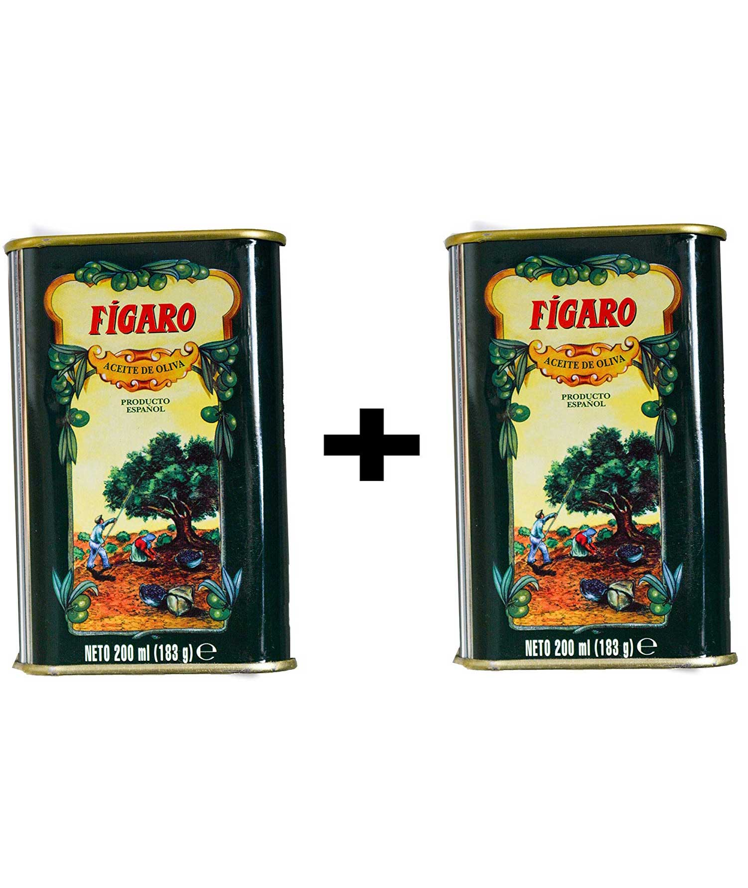 FIGARO Pure Olive Oil 200ML TIN (Pack Of 2)
