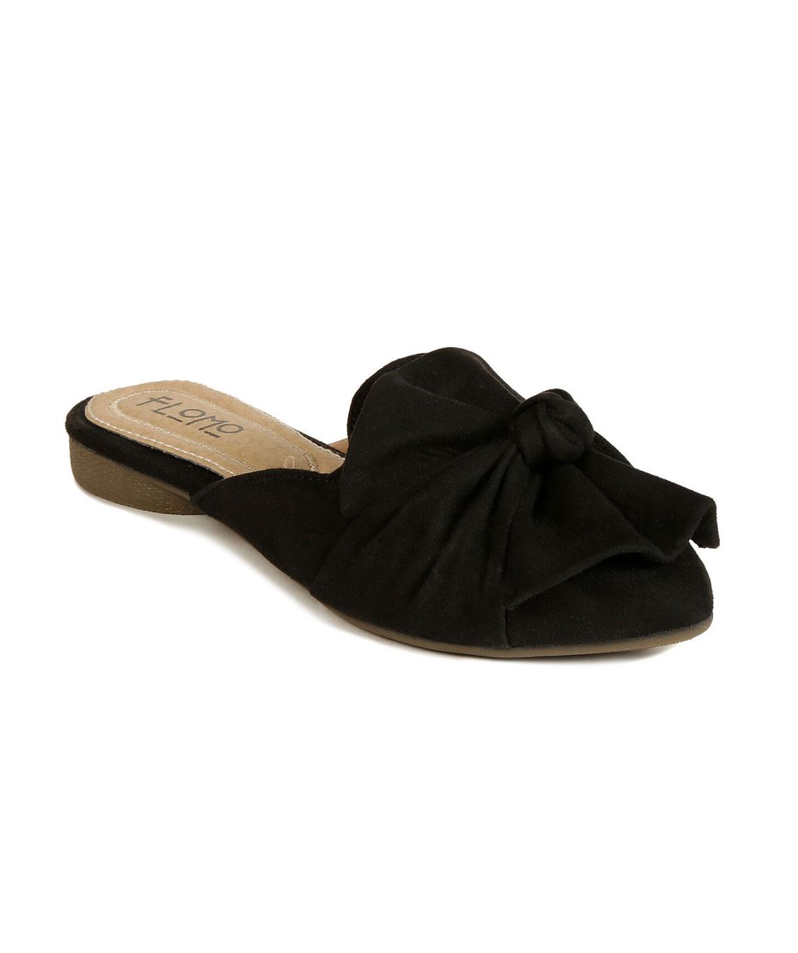 Flomo Women`s Black Resin Casual Mules