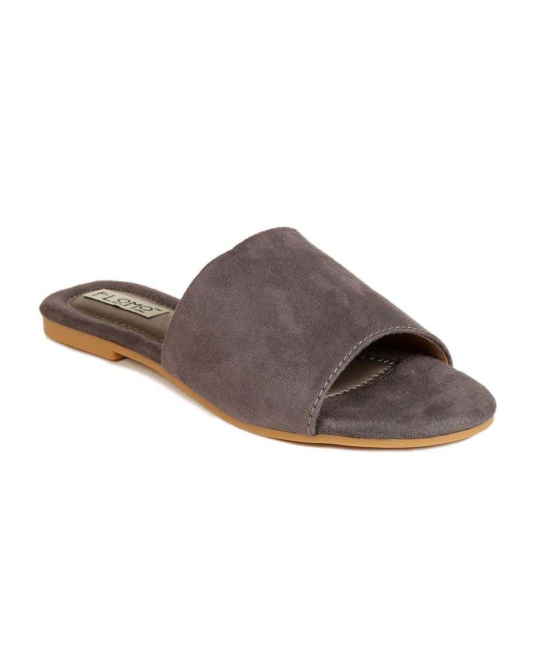 Flomo Women`s Grey Resin Casual Flip Flop