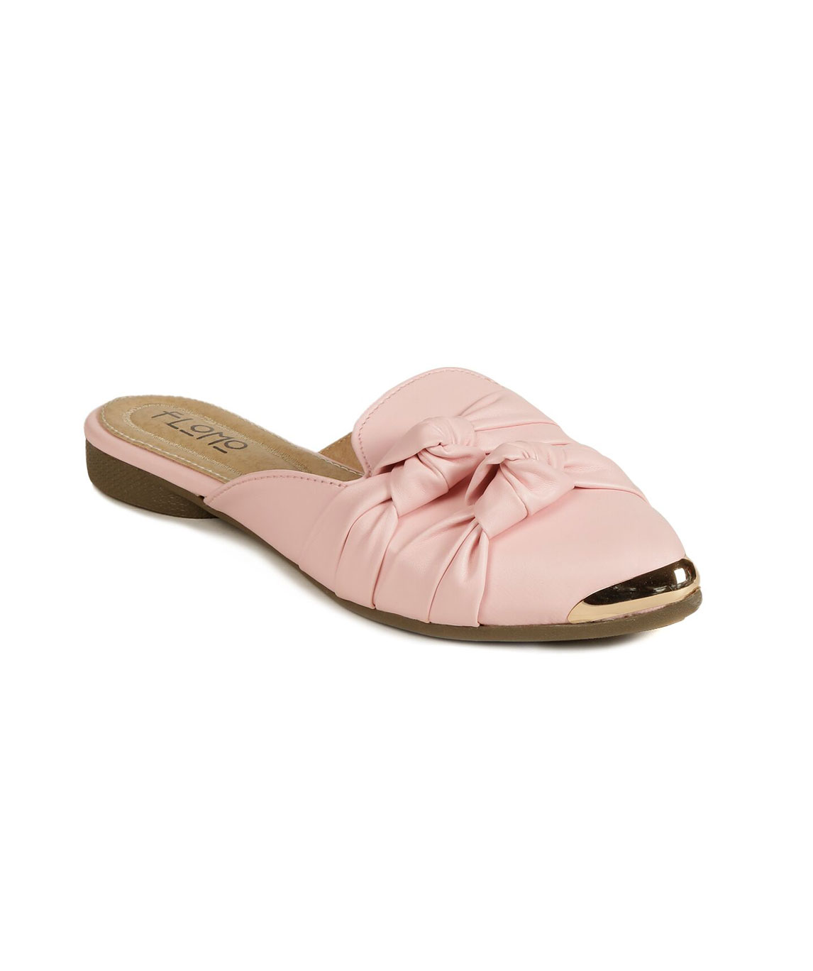 Flomo Women`s Pink Resin Casual Mules