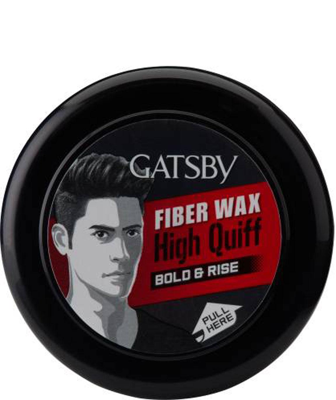 GATSBY HAIR STYLING FIBER WAX BOLD & RISE 75 Gm HAIR WAX (75 Gm)