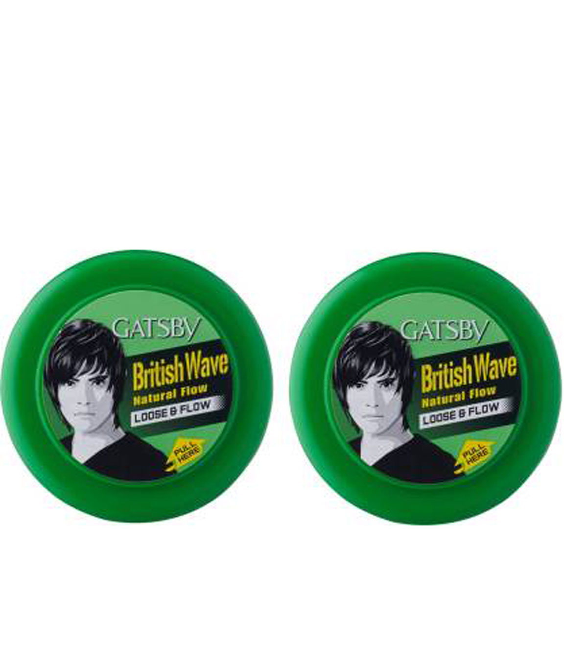GATSBY HAIR STYLING WAX LOOSE & FLOW 75G (PACK OF 2) WAX (150 G)