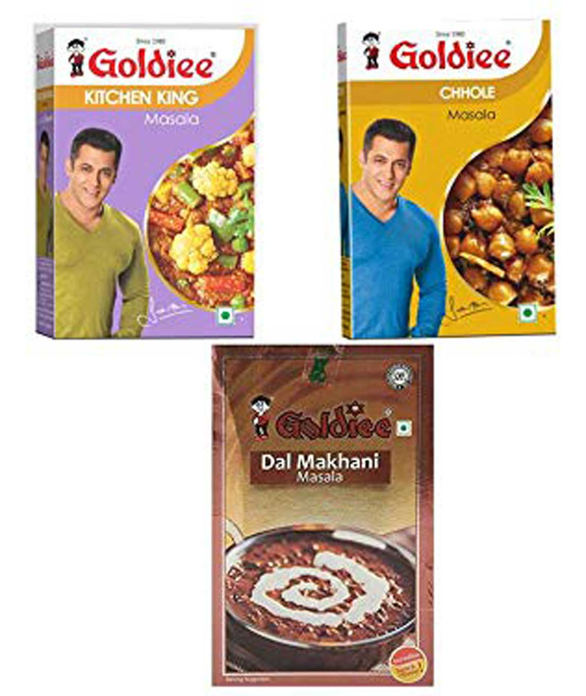 Goldiee Dal Makhani Masala, Chhole Ka Masala and Kitchen King, 300 Grams (Combo of 3)