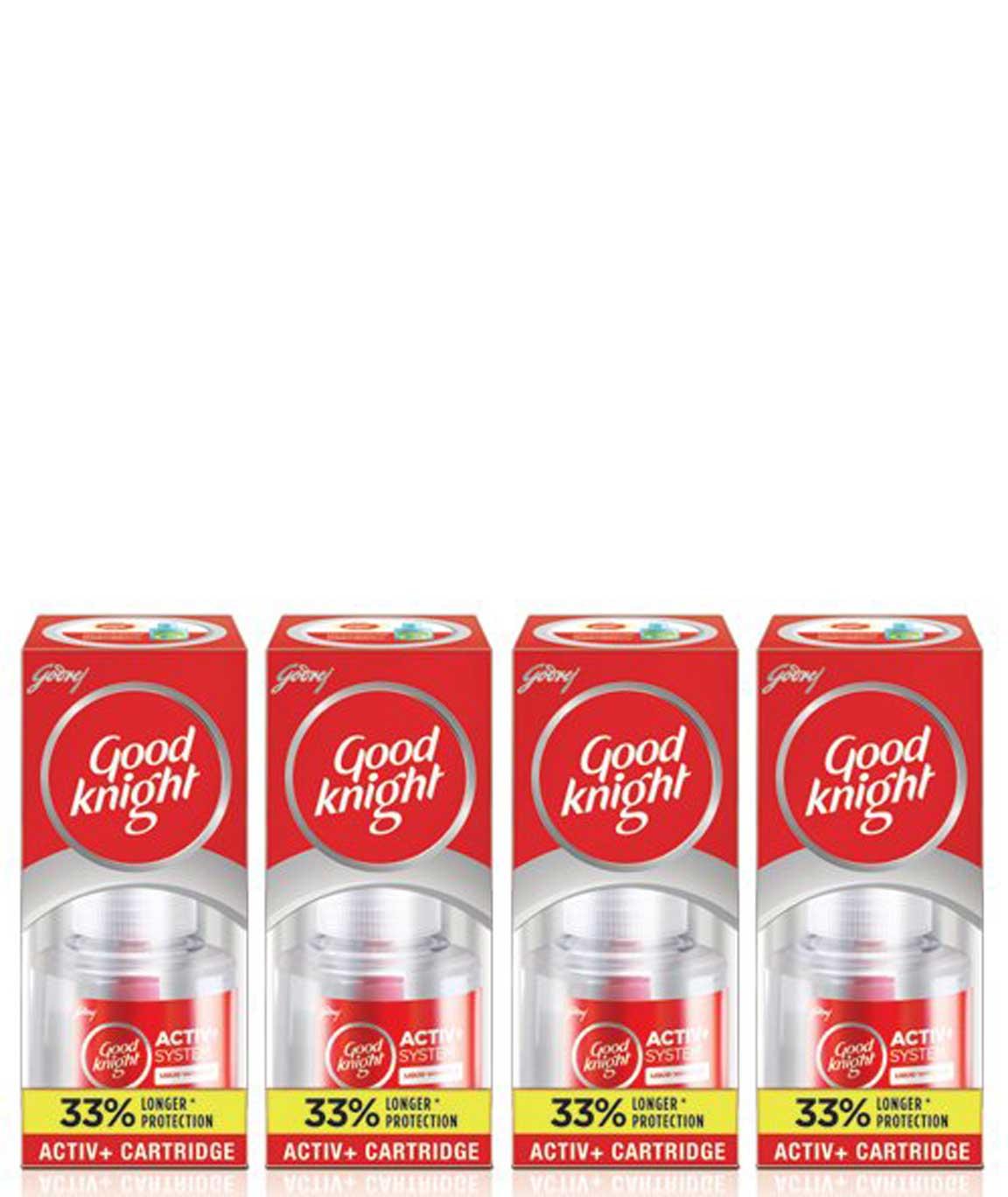 Good Knight Activ+ 60 N Liquid Refill (Pack of 4, Red)