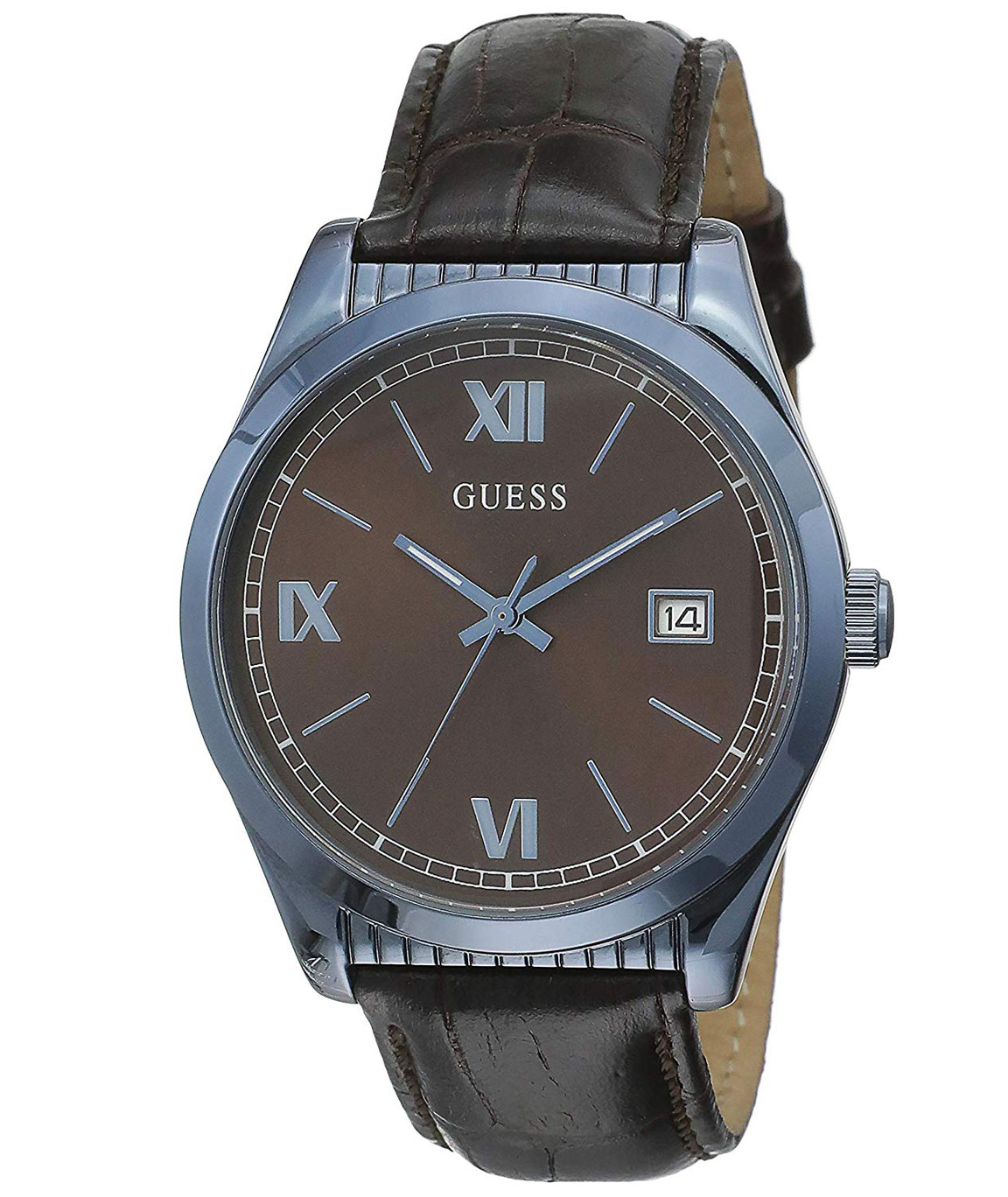 GUESS Analog Brown Dial Men`s Watch