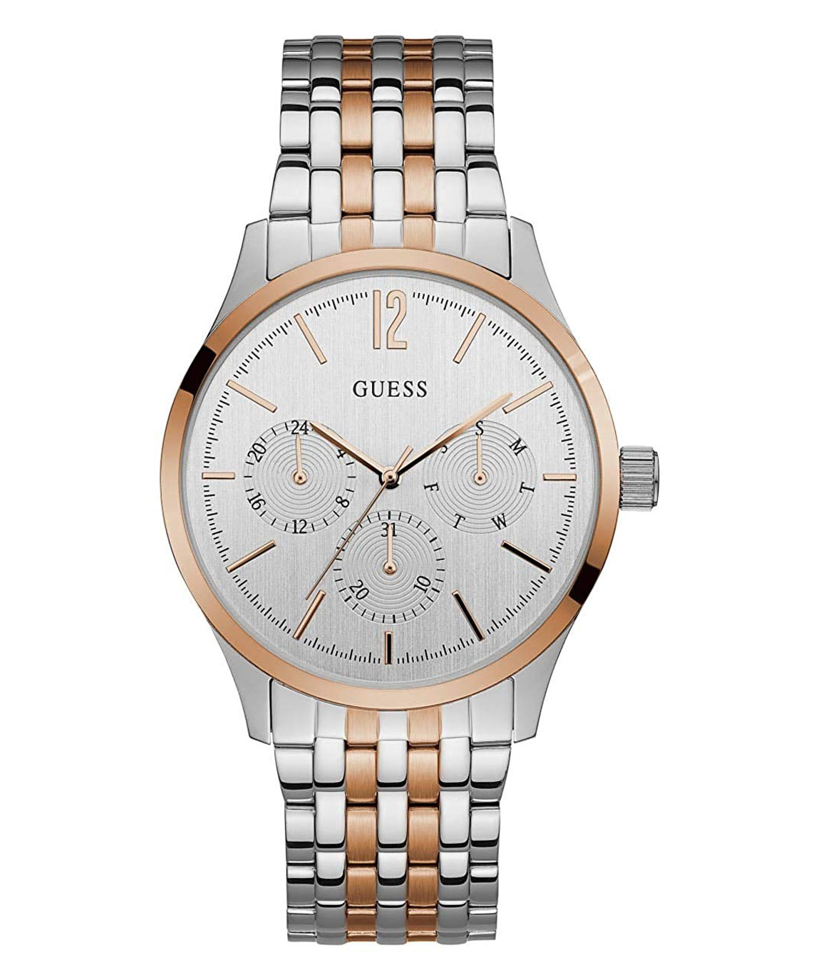 GUESS Analog Gold Dial Men`s Watch