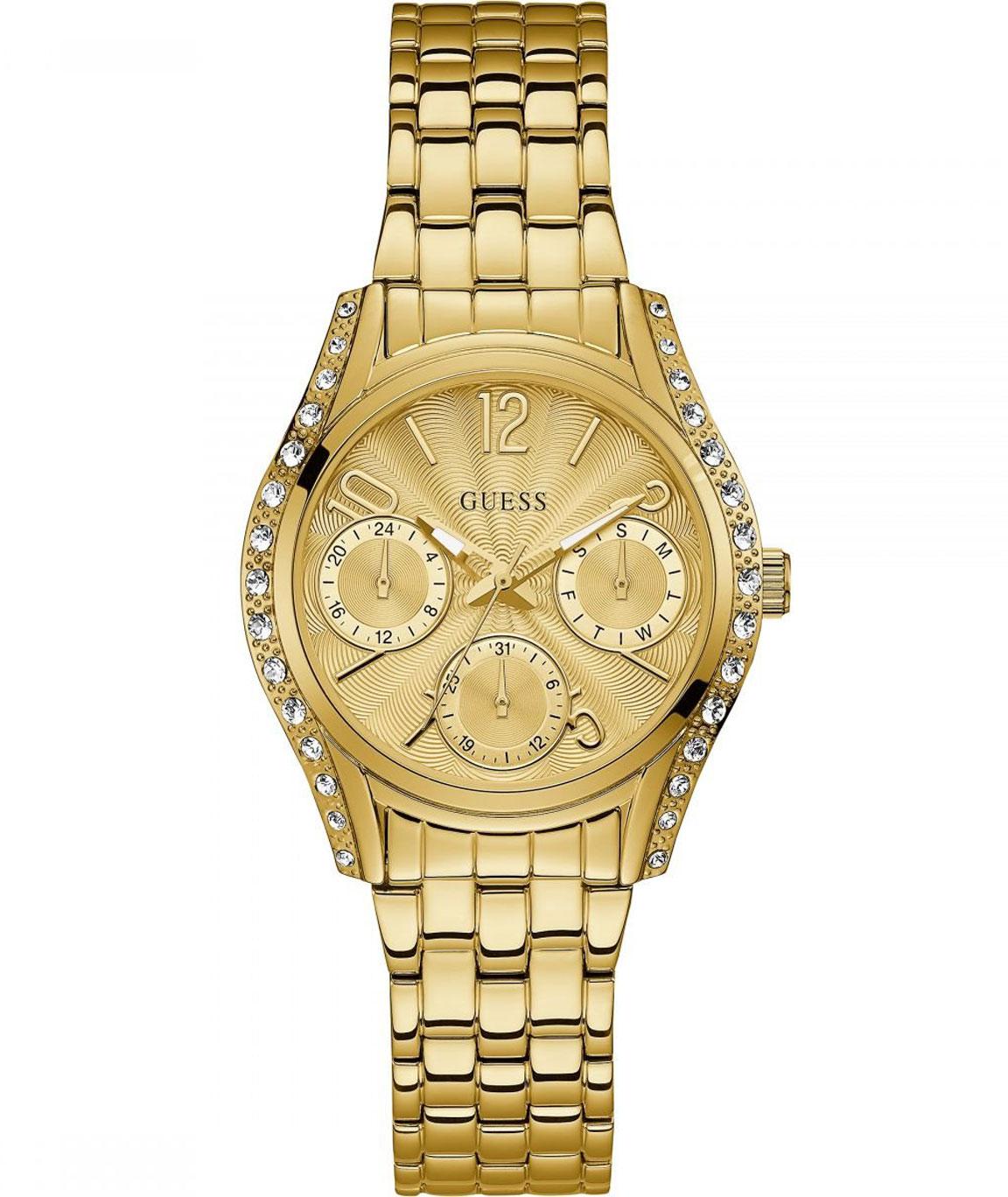 GUESS Analog Gold Dial Women`s Watch