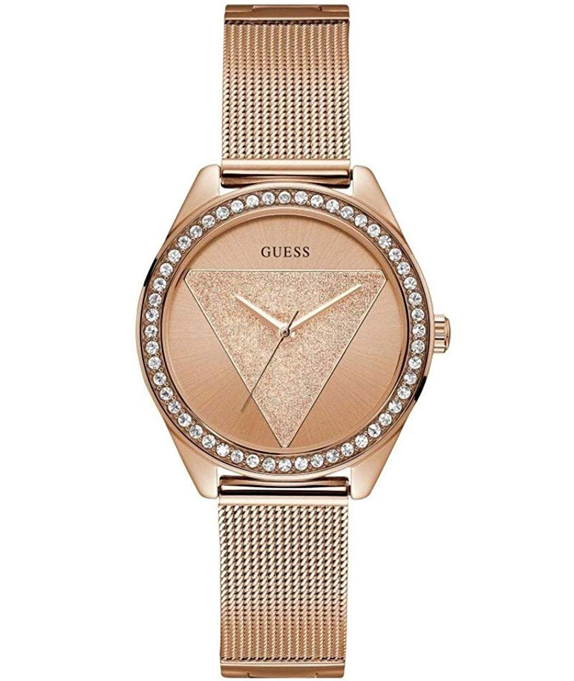 Guess Analog Rose Gold Dial Women`s Watch