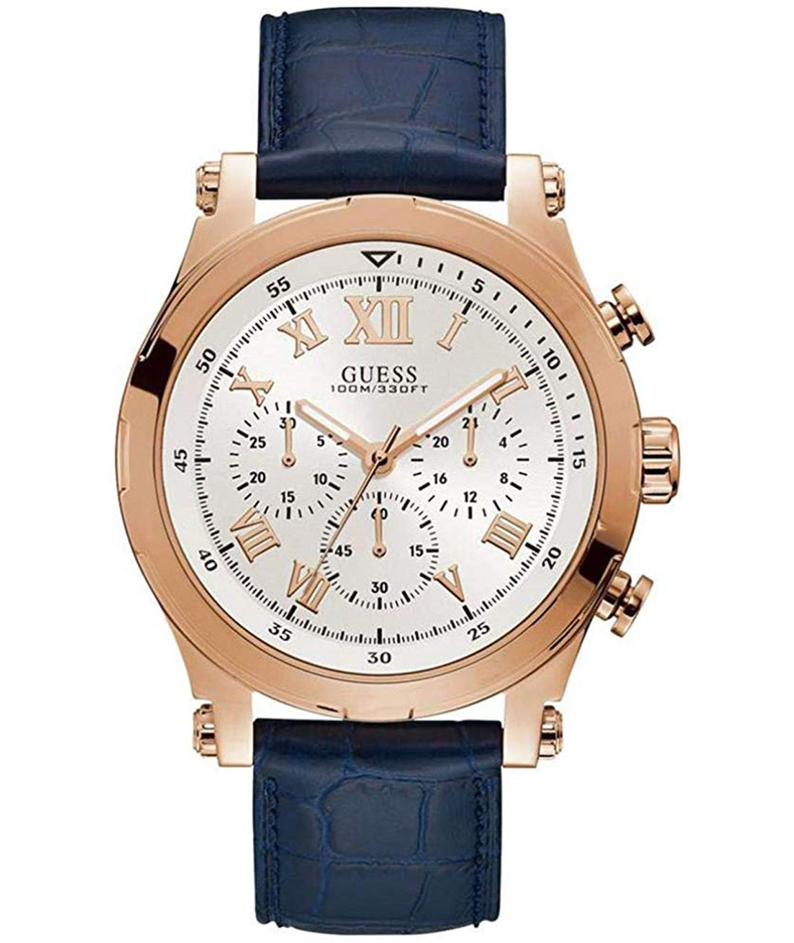 Guess Analog White Dial Men`s Watch