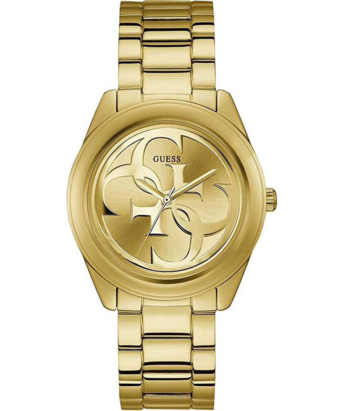 Guess G Twist Analog Champagne Dial Women`s Watch