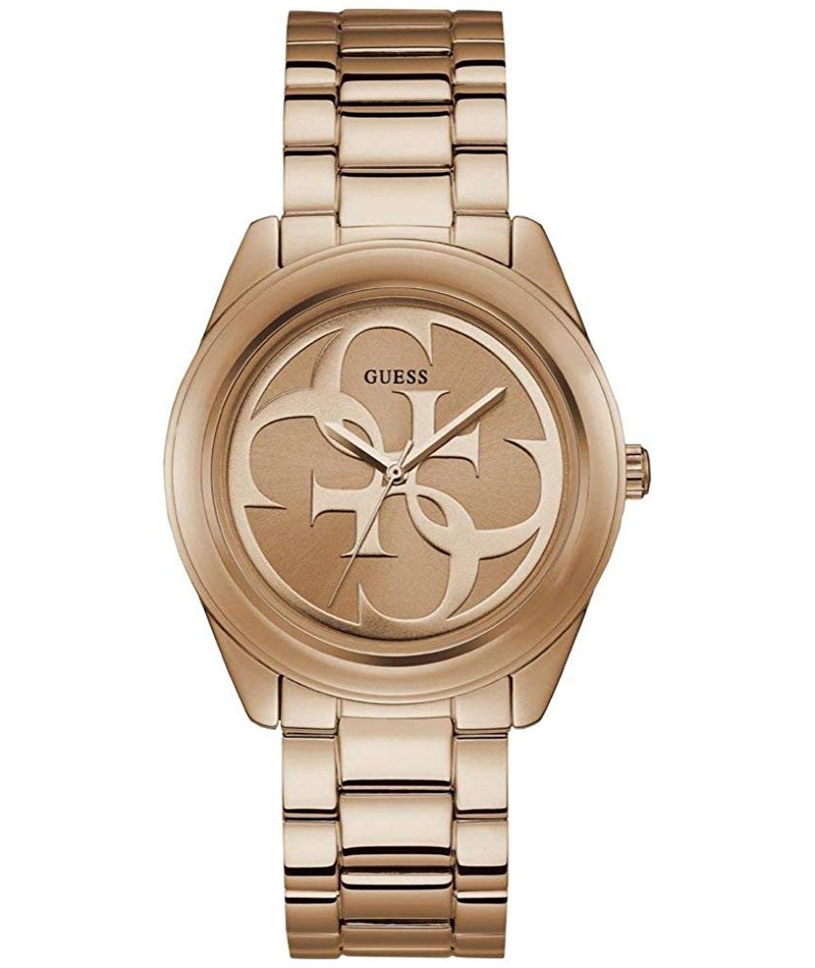 Guess G Twist Analog Rose Gold Dial Women`s Watch