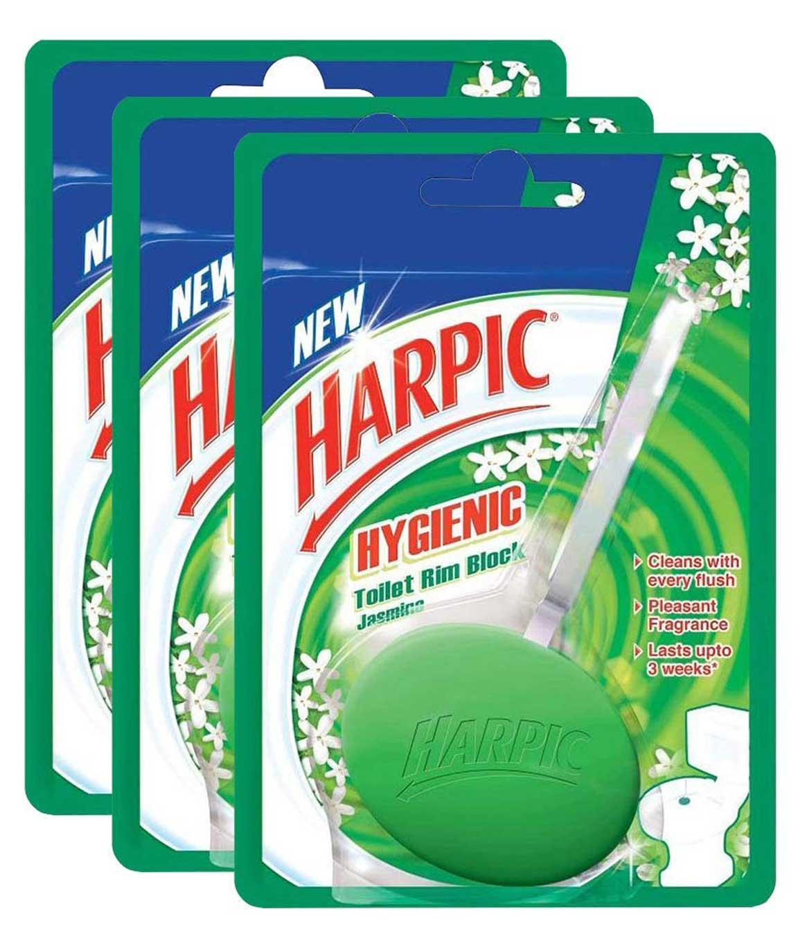 Harpic Hygiene Toilet Rim Block, Jasmine - 26 g (Pack of 3)