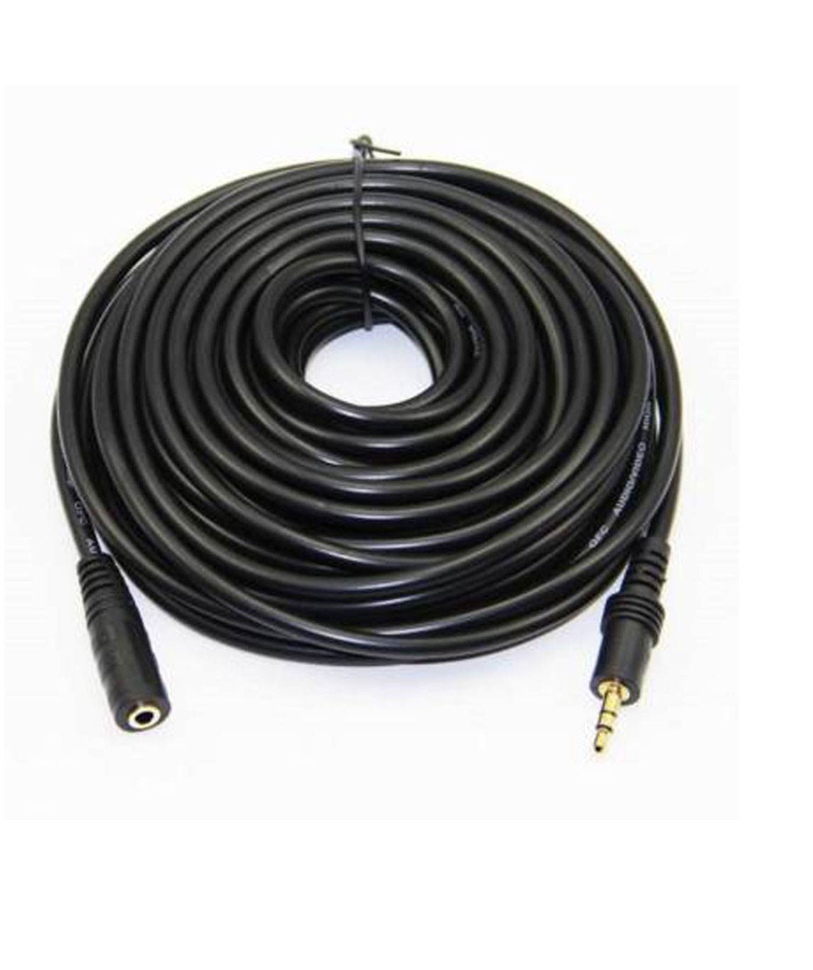 HIGH QUALITY 5 METER 3.5MM STEREO MALE TO FEMALE EXTENSION AUX CABLE (COMPATIBLE WITH SPEAKER, BLACK)