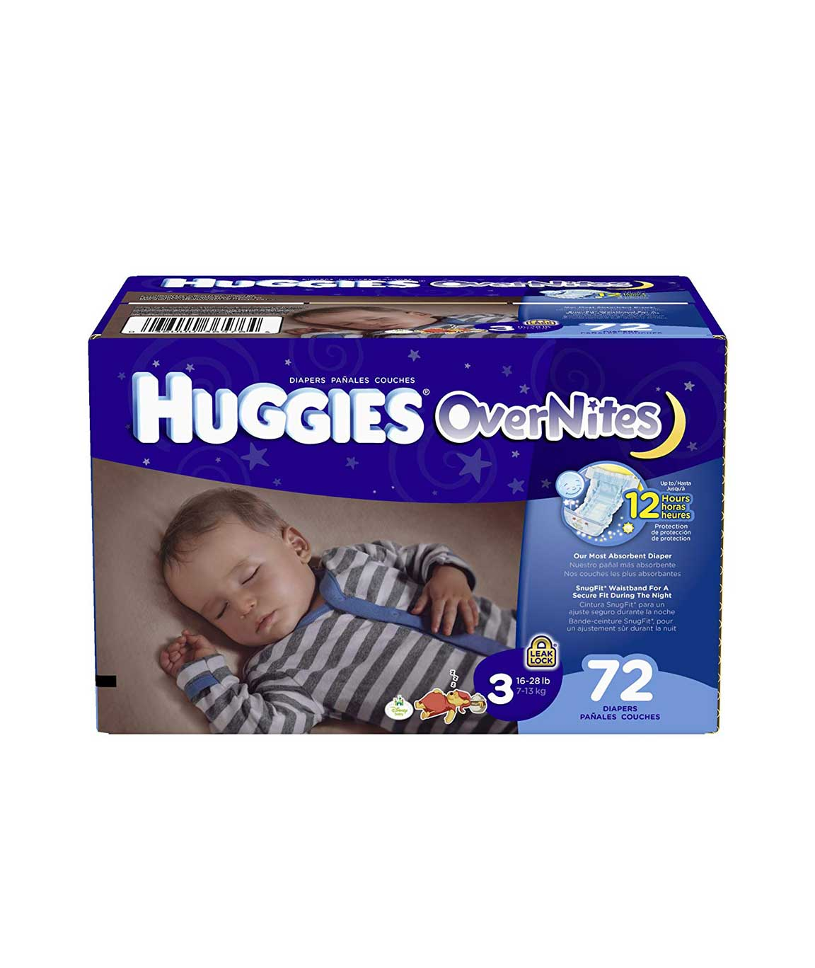 Huggies over Night Diapers, Size 3, Big Pack, 72 Count