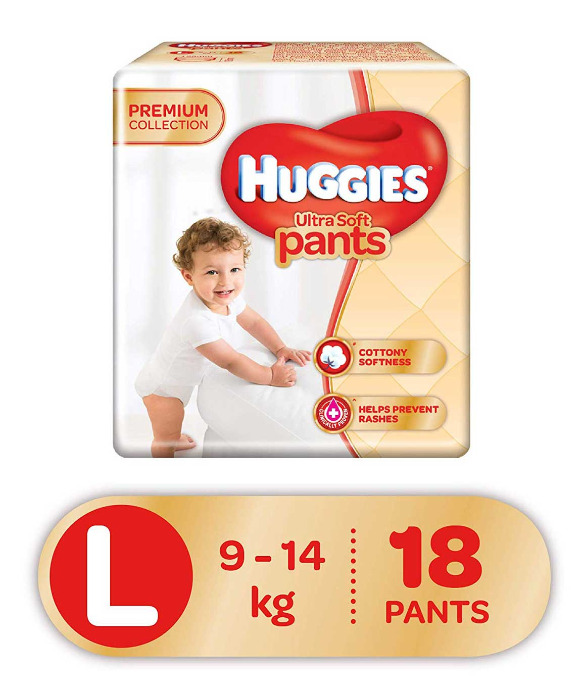 Huggies Ultra Soft Pants Diapers, Large (Pack of 18)