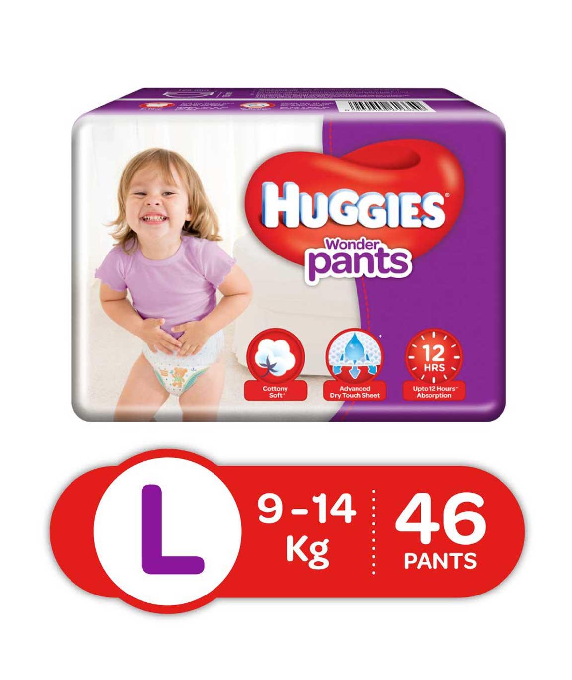 Huggies Wonder Pants Diapers Large Pack of 46