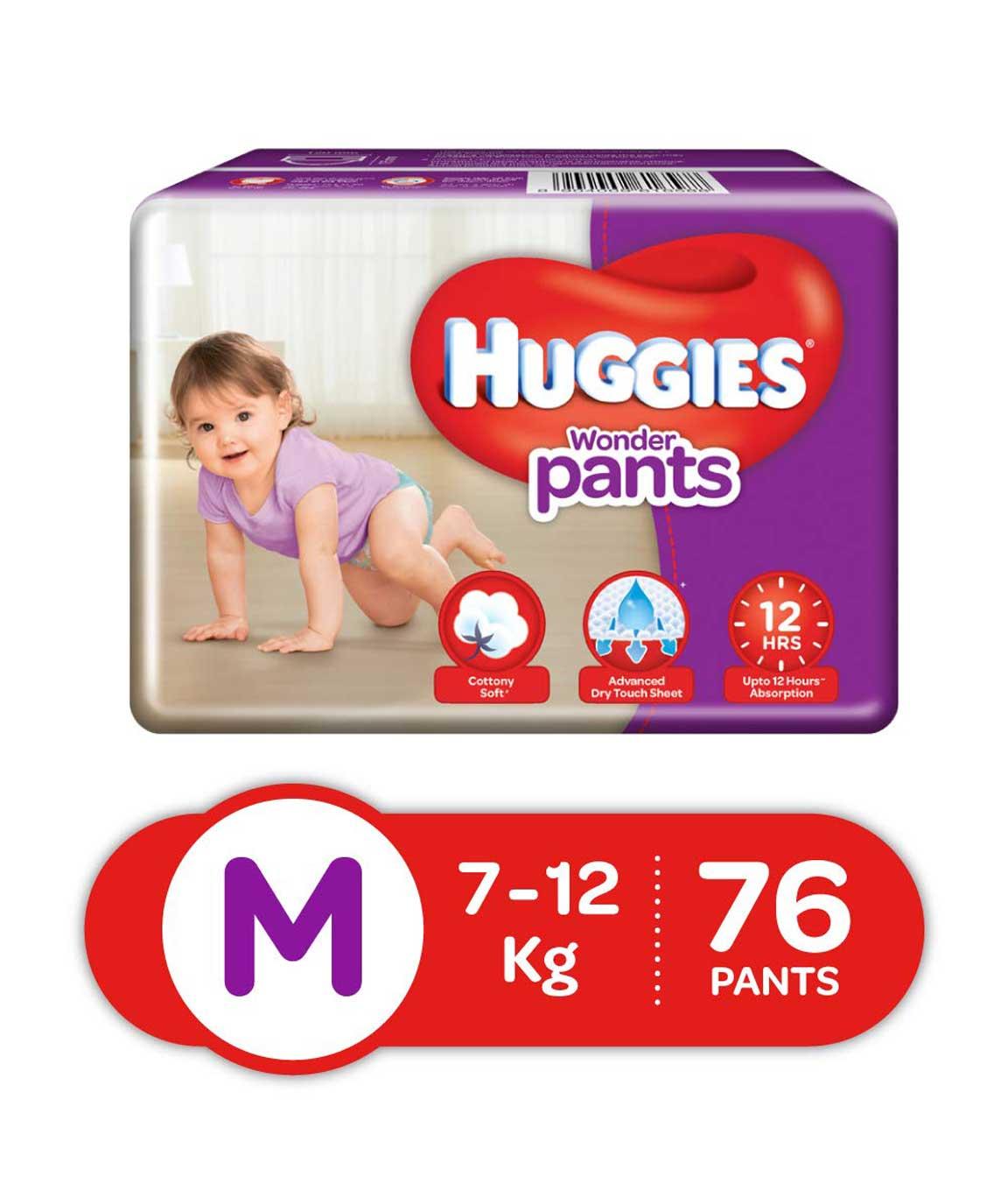Huggies Wonder Pants Diapers Medium Pack of 76