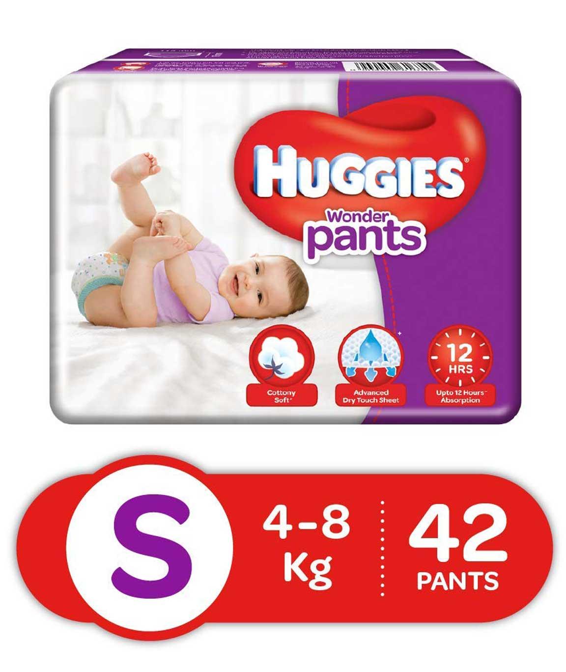 Huggies Wonder Pants Diapers Small Pack of 42