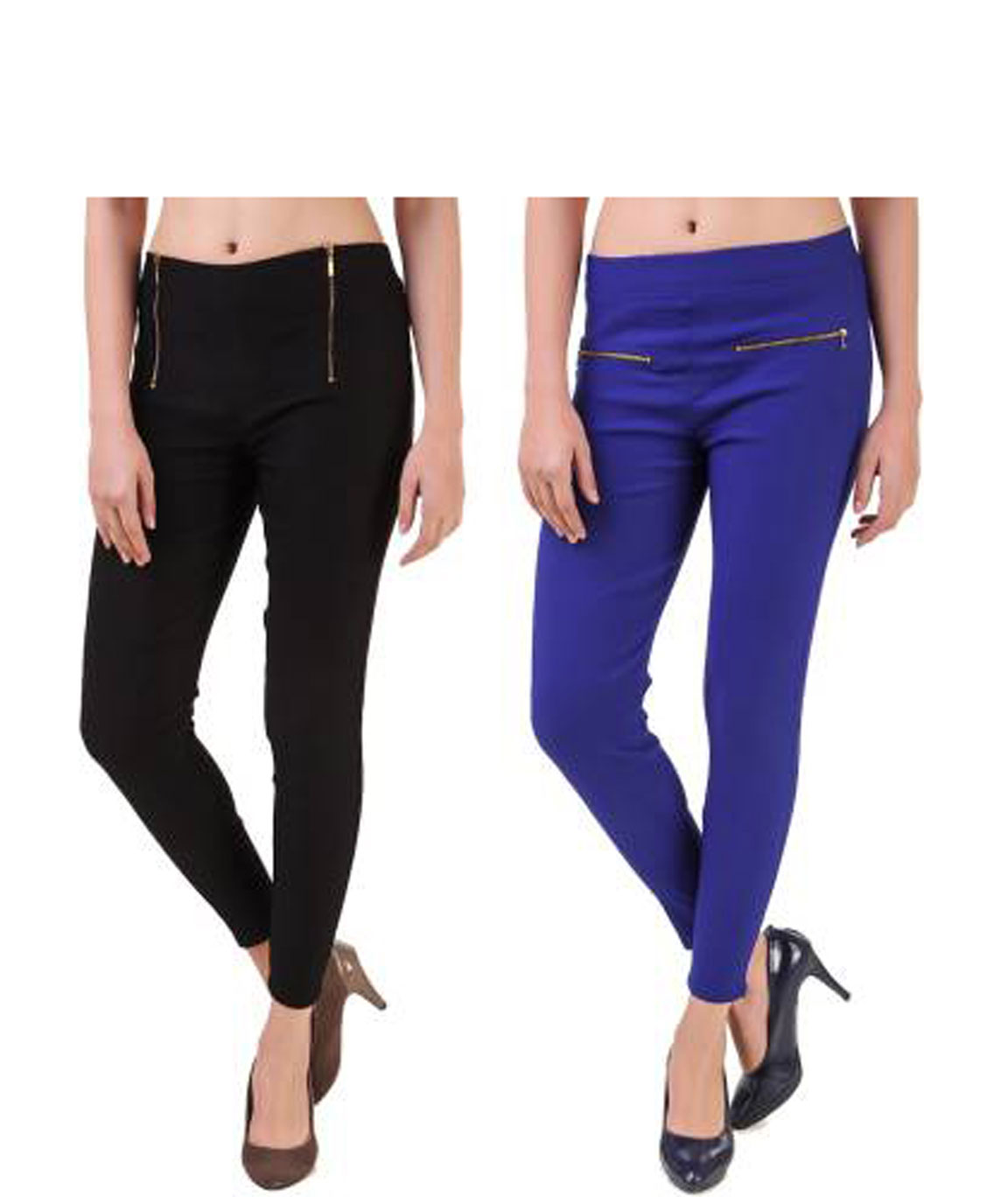 I KING BLACK, BLUE JEGGING  (SOLID)
