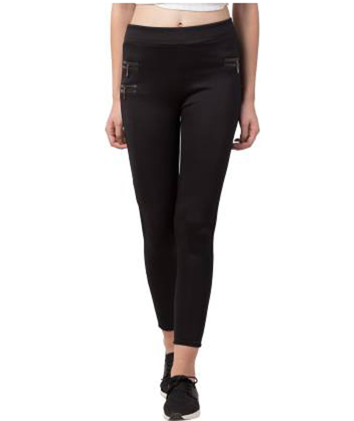 I KING BLACK JEGGING (SOLID)