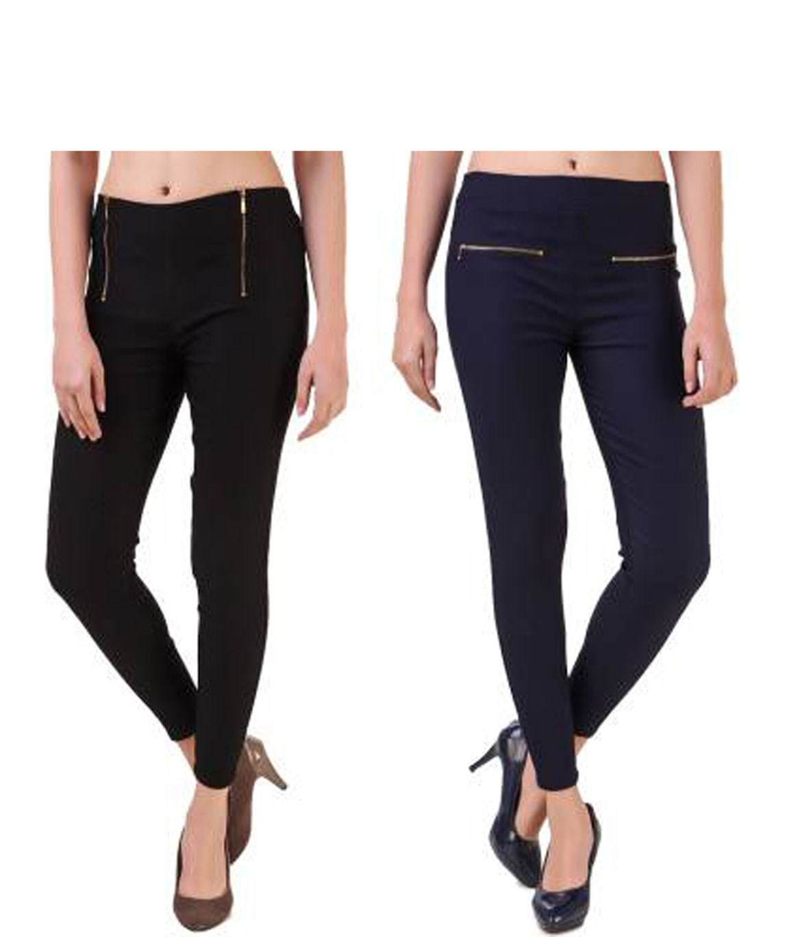 I KING BLACK, NAVY BLUE JEGGING (SOLID)