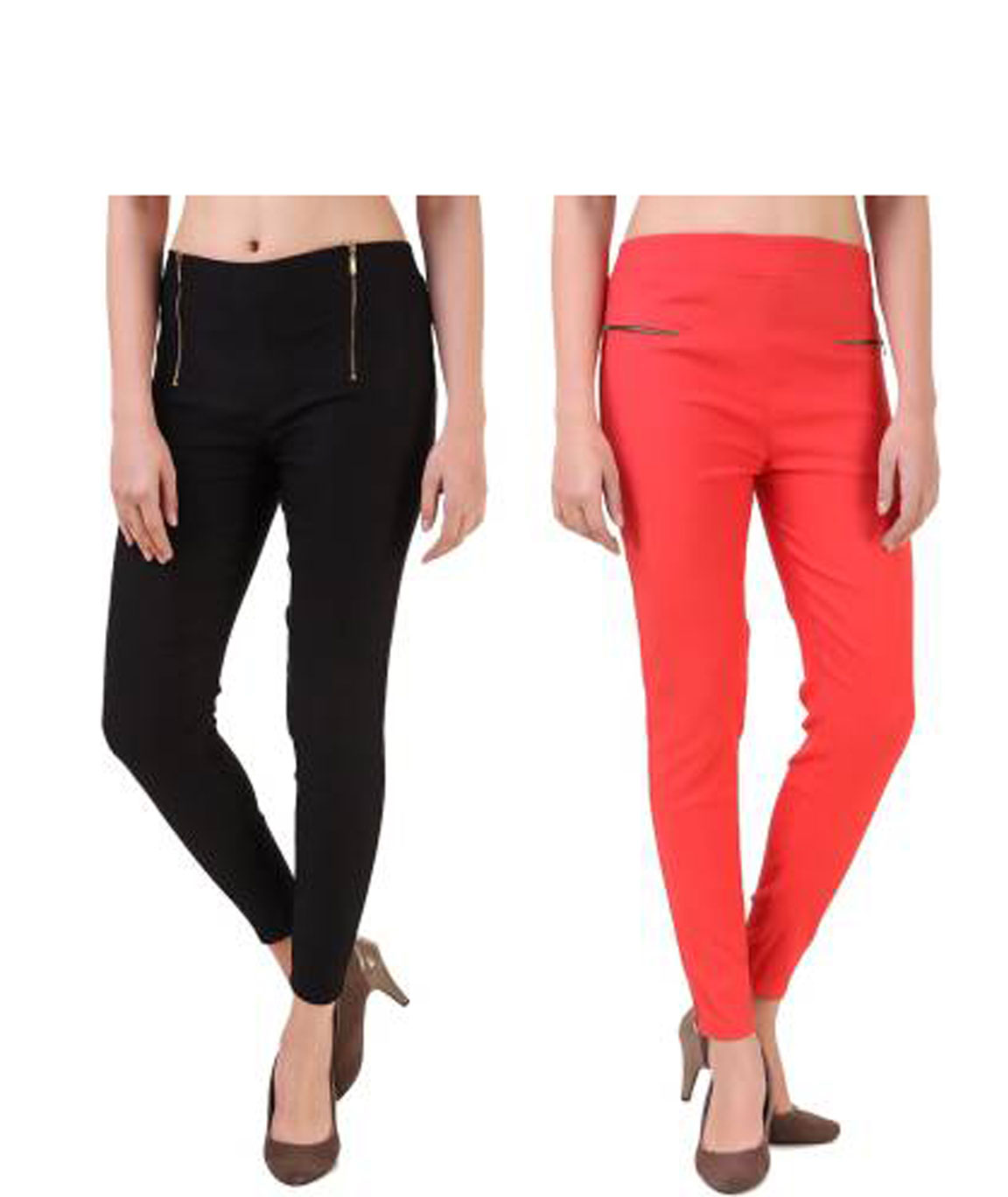 I KING BLACK, ORANGE JEGGING (SOLID)