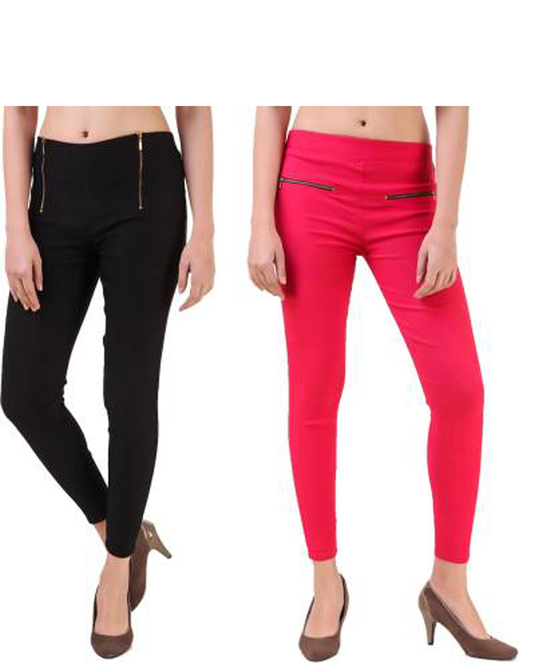 I KING BLACK, PINK JEGGING (SOLID)